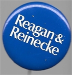 Reagan & Reinecke 1 1/4 Inch Blue 1970 Celluloid