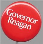 Governor Reagan 1970 Red 1 1/4 Inch Pin