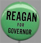 Reagan for Governor Green 1966 Pin