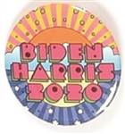 Biden, Harris Multicolor Celluloid