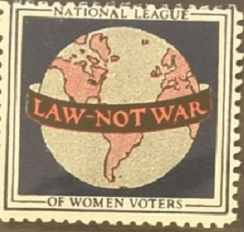 Law Not War Women Voters Stamp