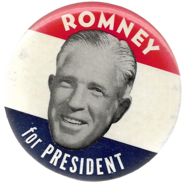 Romney for President Large Celluloid