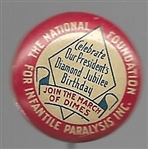 FDR, March of Dimes Presidents Birthday Party Pin