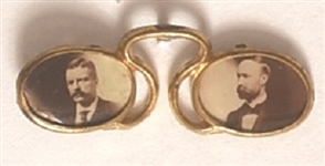 Roosevelt-Fairbanks Sepia Pince Nez Pin
