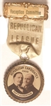 Taft and Sherman Republican League Reception Committee Pin and Ribbon