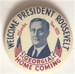 Welcome President Roosevelt Georgia Homecoming Pin