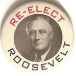 Re-Elect Roosevelt Philadelphia Badge Celluloid