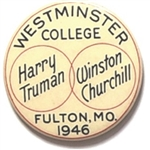 "Truman, Churchill Westminster College ""Iron Curtain"" Pin"
