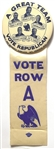 Dewey for Governor New York Great Team Pin, Ribbon