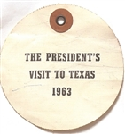 John F. Kennedy President's Visit to Texas Luggage Tag