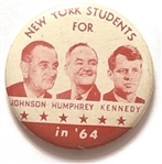 Johnson, Humphrey. Kennedy New York Students Red and White Version