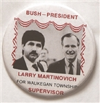 Bush, Martinovich Waukegan Township, Illinois Coattail