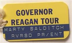 Governor Reagan Tour California Newspaper Badge