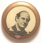 William Jennings Bryan Gold Border Celluloid