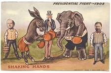 Bryan, Taft Presidential Fight Postcard