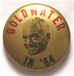 Goldwater Blue, Red, Gold Celluloid