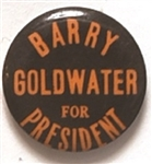 Goldwater for President Orange and Black Celluloid