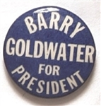 Goldwater Blue and White Celluloid