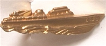 John F. Kennedy PT 109 Gold Tie Clasp