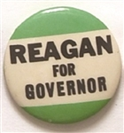 Reagan for Governor 1 1/4 Inch Green Celluloid