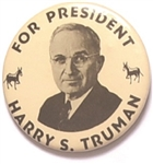Truman for President 2 1/2 Inch Celluloid