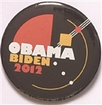 Obama, Biden 2012 Art Pin