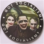 Got Socialism? Anti Obama, Reid, Pelosi Joker Pin