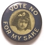 Temperance Vote No for My Sake Young Girl