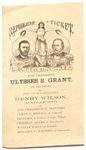 US Grant, Wilson New Hampshire Ballot