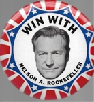 Win With Rockefeller Large Celluloid