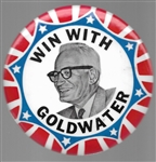 Win With Goldwater Large Celluloid