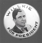 Willkie for President Black, White Picture Pin