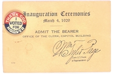 Thank God I Voted for Hoover and Inaugural Card