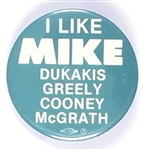 I Like Mike Dukakis, Greely, Cooney, McGrath Scarce Montana Coattail