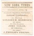 Harrison 1849 New York Times Ad