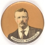Theodore Roosevelt Gold Background Celluloid