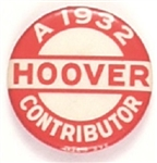 Hoover a 1932 Contributor
