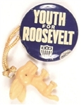 Youth for Roosevelt Pin and Donkey