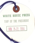 Johnson 1964 Presidential California Trip Tag