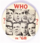 Who in 68 Hopefuls Pin