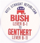 Bush, Genthert Pennsylvania Coattail