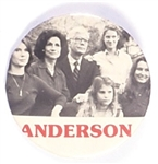 John Anderson Third Party Family Campaign Pin