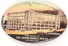 Crown Overall Manufacturing Co. Advertising Mirror