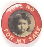 Vote No for My Sake, Young Girl with Red Border