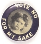 Vote no for My Sake, Young Girl with Blue Border