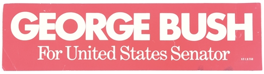 George Bush for United States Senator Bumper Sticker