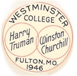 Truman, Churchill Westminster College Iron Curtain Pin
