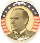 William McKinley Stars and Stripes Celluloid