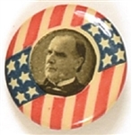 McKinley Stars and Stripes Pinback