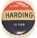 My First Vote is for Harding
